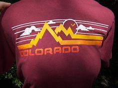 Vtg Rocky Mountain Rainbow Colorado T Shirt M Cotton 80s Tourist Souvenir 70s | eBay