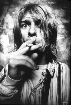 They laugh at me because I'm different; I laugh at them because they're all the same. Kurt Cobain