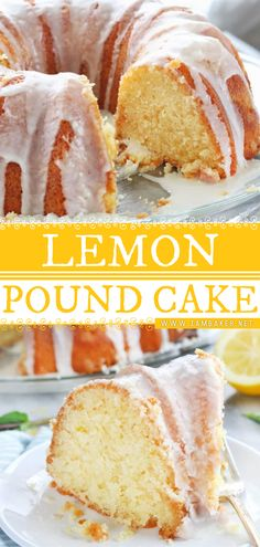 Make your Sping extra sweet with this Lemon Pound Cake! This Spring dessert recipe is a rich cake that is also rich in flavor with a beautiful dense crumb. Topped with homemade lemon glaze, this spring food idea can be a beautiful naked cake for your dessert table! Great Desserts, Dessert Recipes, Yummy Treats, Yummy Food, Rich Cake, Spring Food, I Am Baker, Cake Videos, Spring Recipes