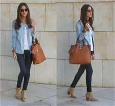 denim on denim + booties  No denim rules (by Silvia Closet) http://lookbook.nu/look/4161122-No-denim-rules