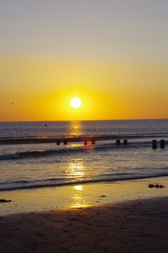 Sunset over Borth, West Wales.