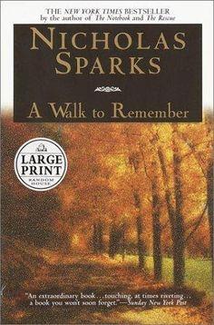 A walk to remember by Nicholas Sparks, BookLikes.com #books