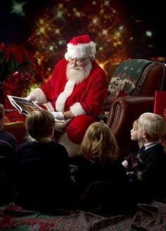 Santa Reading **-** My grandpa used to read the Twas the Night Before Christmas every year. Christmas Scenes, Noel Christmas, Father Christmas, Winter Christmas, Primitive Christmas, Country Christmas, Xmas, Christmas Decor, Magical Christmas