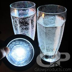 Light up ANY drink glasses or display with this simple LED Coaster! https://glowproducts.com/us/multibigbasecoaster