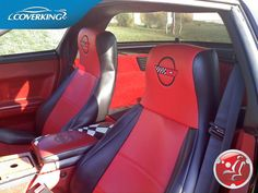 COVERKING PREMIUM LEATHERETTE CUSTOM FRONT SEAT COVERS FOR CHEVY CORVETTE C4 #Coverking