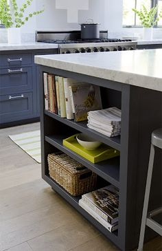 kitchen shelf in island
