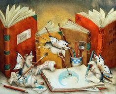 Il Lettore Forte, per staccare un po' dalla realtà, sfoglierebbe per tutta la giornata libri illustrati per bambini.