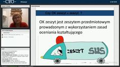 Danuta Sterna i Beata Zwierzyńska z Centrum Edukacji Obywatelskiej prowadzą webinarium związane z prowadzeniem OK zeszytu: 25.02.2016 r.