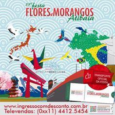 Já comprou seu ingresso para a 35ª Edição da Festa de Flores e Morangos de Atibaia? Não? Então compre agora: www.ingressocomdesconto.com.br Televendas:(0xx11) 4413-2689  Temos também o transporte oficial da festa!