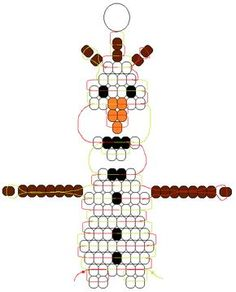 Olaf – Pony Bead Frozen pattern designed by Margo Mead - Best DIY and Crafts 2019 Pony Bead Projects, Pony Bead Crafts, Beaded Crafts, Beaded Ornaments, Pony Bead Animals, Beaded Animals, Pony Bead Patterns, Beading Patterns, Bracelet Patterns