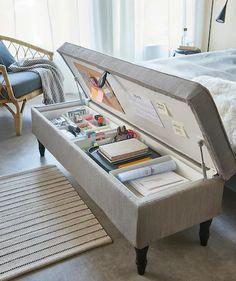 Room Design Bedroom, Room Ideas Bedroom, Home Room Design, Ikea Bedroom, Ikea Room Ideas, Bedroom Stuff, Dorm Room Themes, Space Saving Bedroom, Small Space Bedroom
