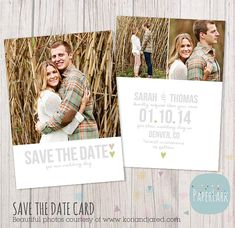 Save the Date Card Template AW007 INSTANT by PaperLarkDesigns