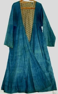 indigo antique dress from Uzbekistan/