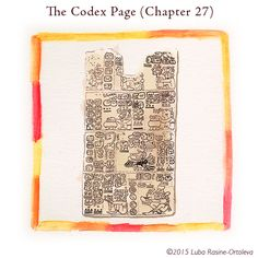 Juan found a page that fell from an old codex that one of the Elders brought to the ceremony