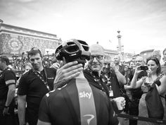 Sir Dave Brailsford congratulated Richie Porte and every other Team Sky rider on their efforts.  Photo:  Scott Mitchell - Stage 21 - 2014 Tour de France