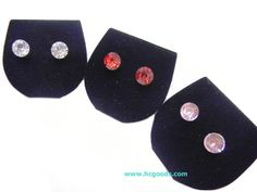 Magnetic Earrings - Clear Round CZ Magnetic Earring - Big