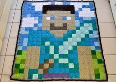 Crochet Minecraft Blanket Pattern | The Loopy Stitch
