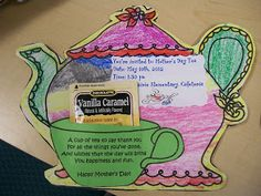 Seeds of Knowledge for Future Generations: Mother's Day Tea Invitations