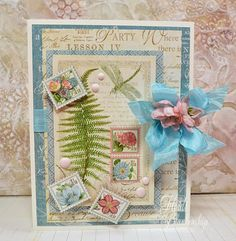 The Stamp Simply Ribbon Store - Graphic 45 Botanical Tea CAS Card