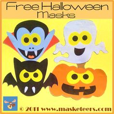 Free Halloween Masks: I hope you see this in time for Halloween. I spotted it earlier this week and finally got some time to share it. Halloween Masks, Halloween Themes, Free Teaching Resources, Teaching Ideas, Winter Bulletin Boards, School Forms, Fall Cleaning, Fourth Grade, Second Grade