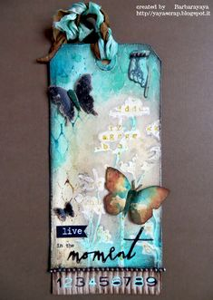 Gorgeous Tag by Barbara for this weeks Simon Says Stamp Monday challenge Stamp and Mists)