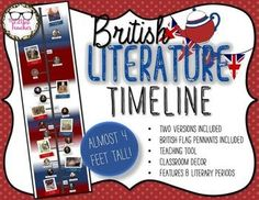Get your students excited about studying the rich history of British literature with this unique timeline! Easy, colorful, meaningful decor for your secondary classroom!