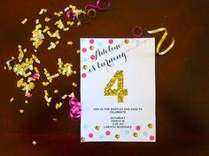 Confetti Invite with gold glitter