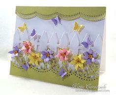 Flower Garden and Butterflies