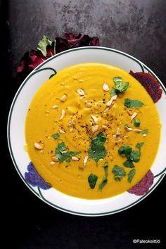 Marokkolainen kasvissosekeitto kukkakaalista – PALEOKEITTIÖ Veggie Recipes, Soup Recipes, Vegetarian Recipes, Cooking Recipes, Healthy Recipes, Recipies, Food N, Food And Drink, Cauliflower Soup
