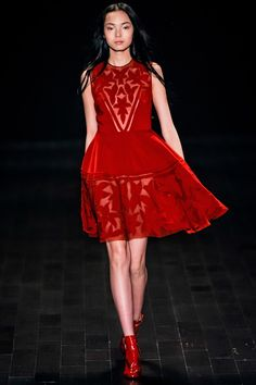 A frothy party frock. Jill Stuart, Fall 2013.    defiantly wd like to try one this one velvet piece..