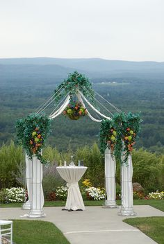wedding arch- not the flowers though yuck