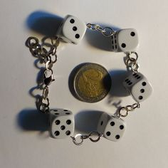 Excited to share the latest addition to my #etsy shop: Dice Bracelet size 15mm Rockabilly Rockenroll 50's https://etsy.me/2jCYpk2