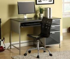 Furniture of America CM7165Chair Otis Chair - Silver and Black - Task Chairs - Home And Garden - Great Products for less on GrabCart.com!