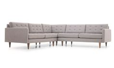 Eliot Corner Sectional by Joybird Living Room Redo, Living Room Chairs, Living Room Furniture, L Shaped Couch, Mid Century Living Room, Modern Bungalow, Corner Sectional, Clever Design, Dream Decor