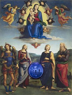 Jeff Koons Gazing Ball (Perugino Madonna and Child with Four Saints) oil on canvas, glass, and aluminum