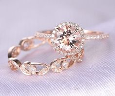 Hey, I found this really awesome Etsy listing at https://www.etsy.com/listing/271397004/2pcs-wedding-ring-setmorganite
