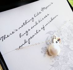Mother of the bride or groom card & necklace gift by BriguysGirls, $33.00