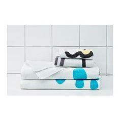 """TVINGEN Washcloth - white/yellow, 12x12 """" - IKEA Adorable towels for the kid's bathroom"""