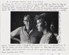 A Letter from My Father  Duane Michals  1960, print and inscribed about 1975