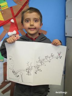 Christmas Guided Drawing!  The instructions for this activity are a free download on this blog post.