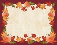 (144/case) Pumpkins & Leaves Paper Placemat