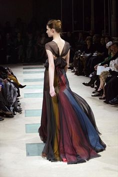 Azzedine Alaia, sheer color dress, spring summer 2003