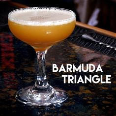 Barmuda Triangle   1.5 oz rye whiskey; 3/4 oz Gosling's Black Seal rum; 1/2 oz fresh lime juice; 1/4 oz simple syrup; 1 barspoon Amaretto; 1 dash Angostura bitters