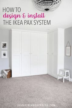 This super helpful post talks about IKEA& 3 best storage systems-- ALGOT, B. This super helpful post talks about IKEA& 3 best storage systems-- ALGOT, BESTA, and PAX-- and gives great ideas for using them in your home! Ikea Pax Closet, Ikea Pax Wardrobe, Diy Wardrobe, Closet Bedroom, Closet Office, Ikea Pax Doors, Ikea Closet System, Wardrobe Ideas, Ikea Wardrobe Design