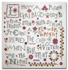 cross stitch freebies | The Useful Needle: Lo, How a Rose