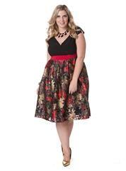 Plus Size Adelle Dress in Ruby