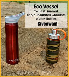 Eco Vessel ~ Twist & Summit Triple Insulated Stainless Water Bottles + Giveaway (US) 7/17
