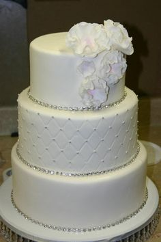 Wedding Cake with Rhinestones