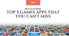 [Best of October] Top 5 Games Apps That You Can't Miss - http://ttj.pw/1WGdGuv November has arrived and weather is getting colder and we are getting lazier! Meanwhile you might check some fun apps that will kill your lazy time. The following list showcases top 5 recently released games apps that you may not be familiar with.   [Click on Image Or Source on Top to See Full News]