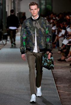 Camouflage is one of the top trends this summer.  Valentino men's for SS  2013.